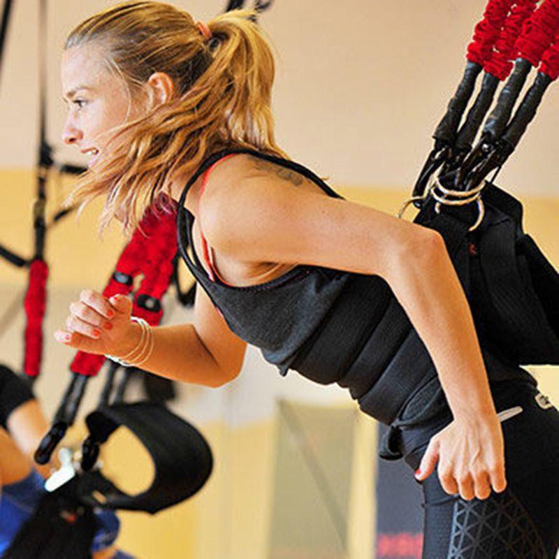 Hohe Qualität Pilates Suspension Elastische Schlinge Praxis Pull Seil Bungee Workout Trainer Schnur Widerstand Hängende Ausbildung Straps