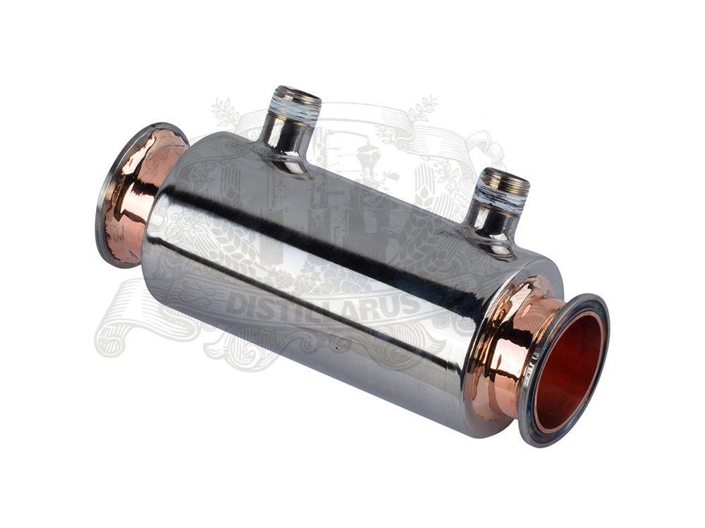 NEUE 2 Direkten fluss Dephlegmator/Reflux edelstahl 304 mit rotem kupfer innen, tri-clamp verbindung OD64