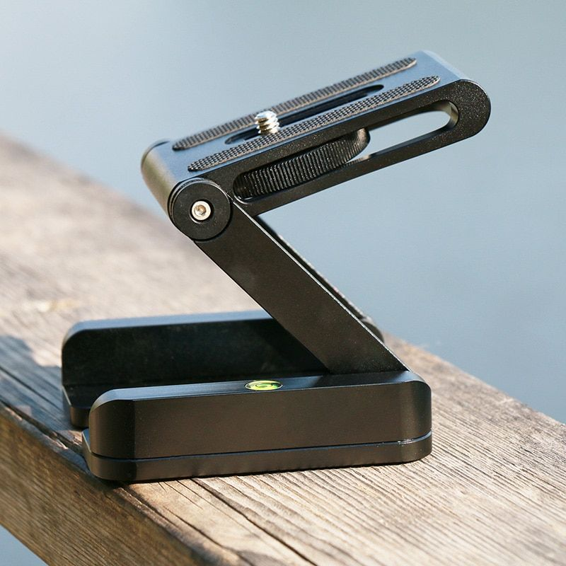 Ulanzi Z Flex Tilt Tripod <font><b>Head</b></font> Aluminum Alloy Folding Z Tilt <font><b>Head</b></font> Quick Release Plate Stand Mount Spirit Level For Phones Camera