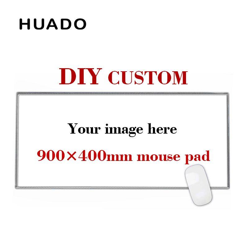 900*400mm DIY Personnalisé En Caoutchouc Gaming Mouse Pad Mat Ordinateur Portable Clavier Tapis XL pour overwatch/cs go /monde de warcraft