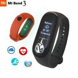 Xiaomi mi смарт-браслет 3 фитнес-браслет mi Band3 OLED сообщение время сердечного ритма Smartband Bluetooth 4,2 Android IOS