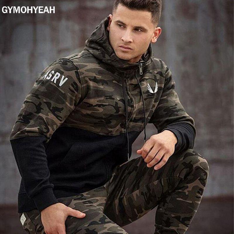 GYMOHYEAH Brand 2018 new fashion spring autumn mens hoodies camouflage style hoodie army sweatshirt tracksuit male hoodie