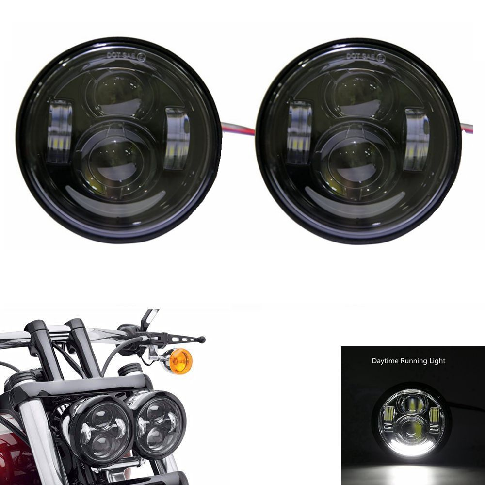 New Daymaker LED Headlamps For Harley Dyna Fat Bob FXDF Model Daymaker LED Lamps Fat Bob Headlight