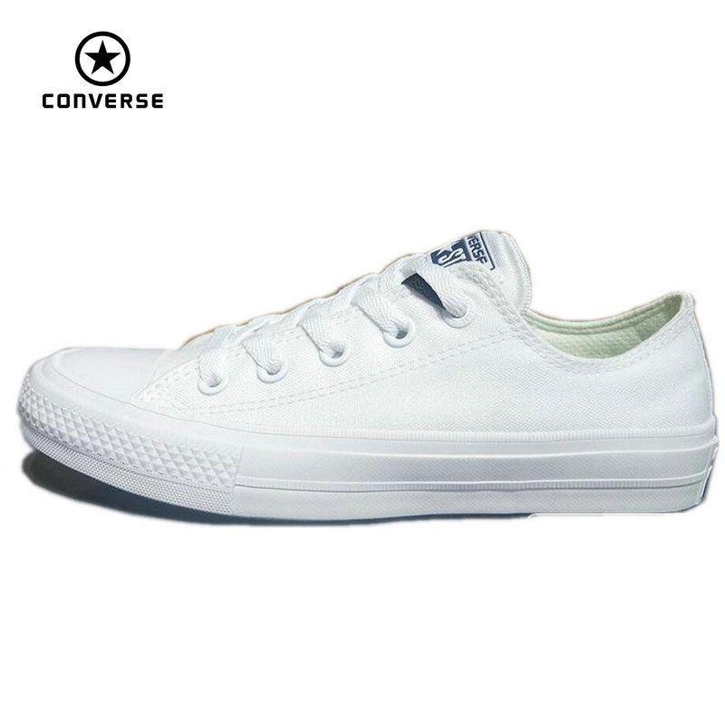 Converse Зажимы Taylor Ii новинка 2016 All Star унисекс парусиновые кроссовки Обувь классический чистый цвет Обувь для скейтбординга 150154c