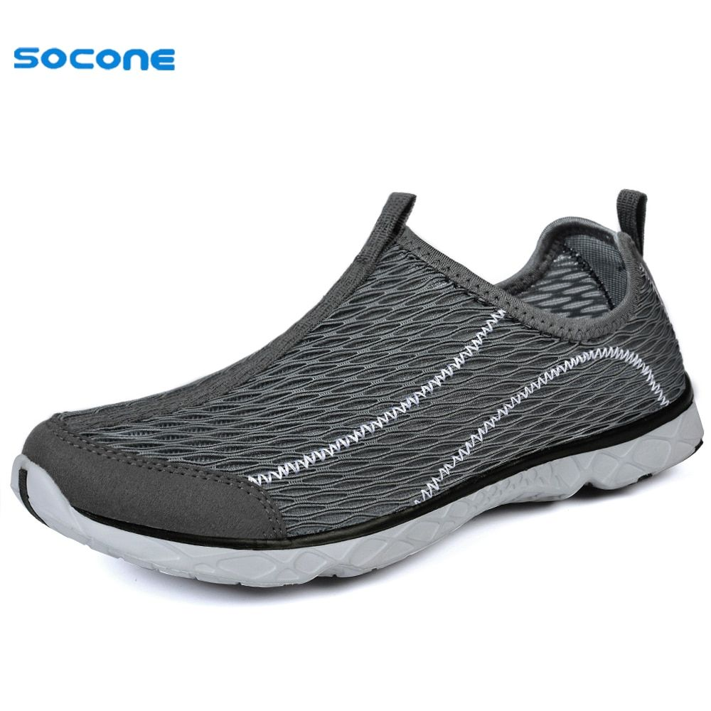 SOCONE New Simple Sport Men Sneakers Summer Spring Breathable Air Mesh Boy Running Shoes Cool Light Quick Drying Trainers 1968M