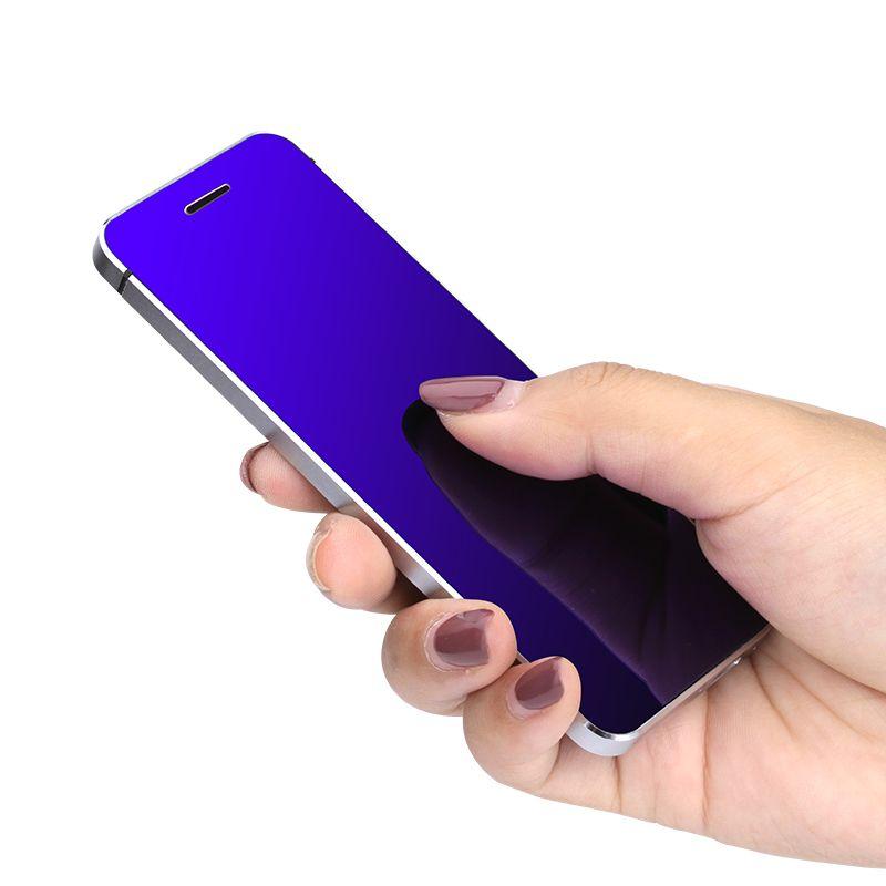 ULCOOL V36 Phone With Super Mini Ultrathin Card Metal Body Bluetooth 2.0 Dialer Anti-lost FM MP3 Dual SIM Card Mini Phone