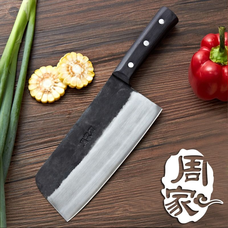 Free Shipping Handmade Clip Steel Kitchen Cutting Knife Household Multifunctional Cooking Slicing Knives Forged Chef Cleaver