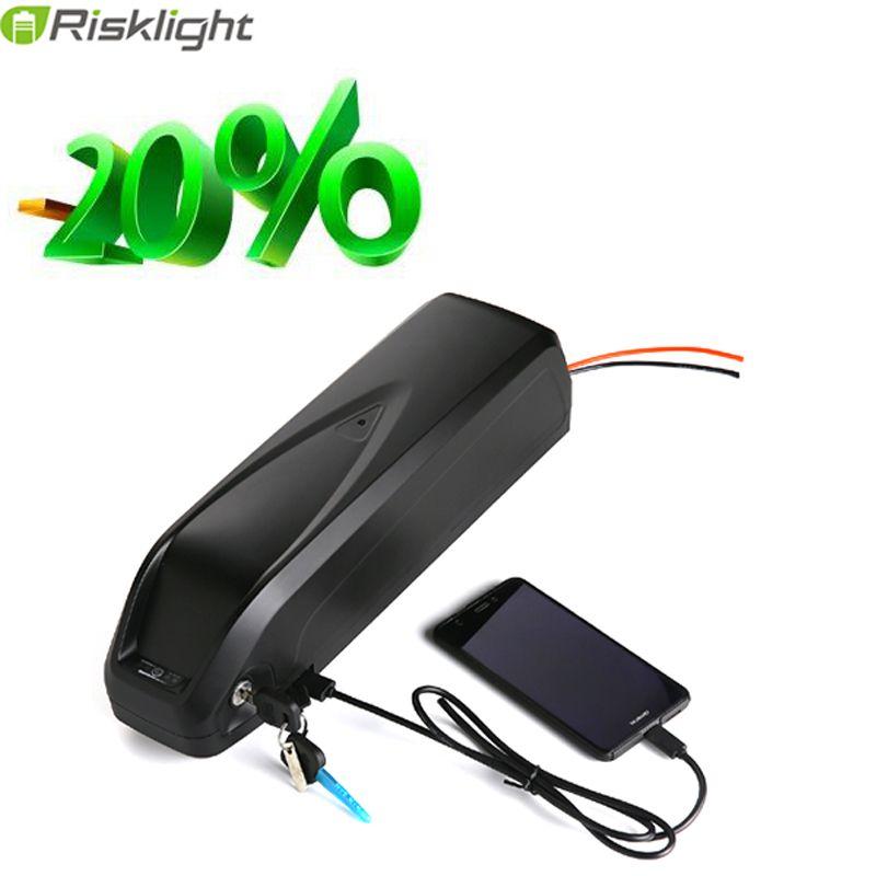 electric bike battery 48V 15Ah e-bike battery for 48v 1000W 8fun/Bafang BBSHD Hailong battery with 5V USB For Samsung cell