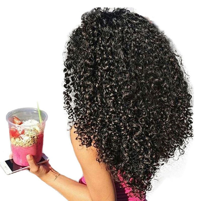 3B 3C Kinky Curly Clip In Human Hair Extensions Honey Queen Nautral Color Clip-in Full Head 7 Pcs Remy Hair 120G