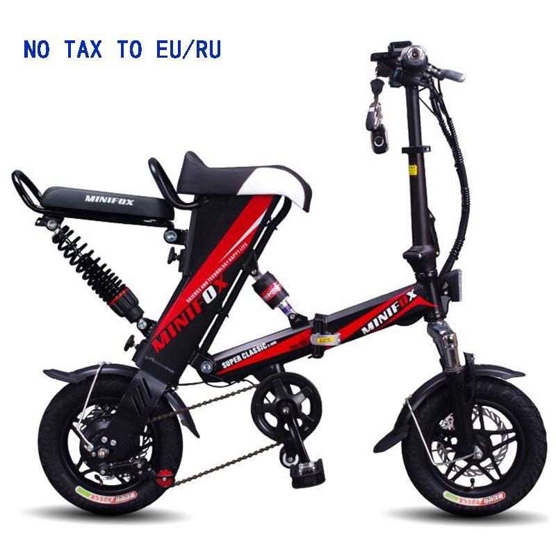 2018 MINI e-bike Folding Elektrische Fahrrad 48V12A Lithium-Batterie 350 watt Elektrische Fahrrad Roller fahrrad FREIES verschiffen KEINE STEUER ZU USA