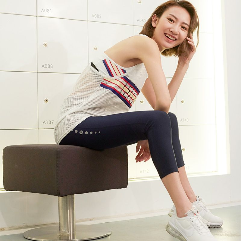 U Running Shorts Women Reflective Zip Pocket Mesh Panel Sports Compression Shorts Fitness Yoga leggings Gym Sport Tights Capris