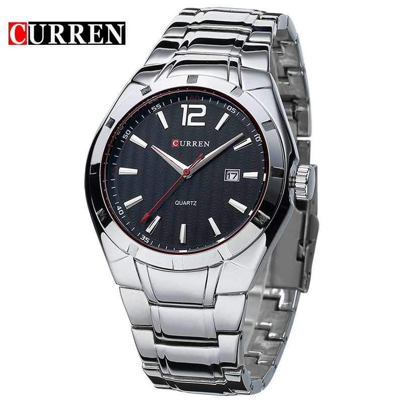 2015 Curren Men Luxury Brand Sport Watches Water Quartz <font><b>Hours</b></font> Date Hand Clock Men Full Stainless Steel Wrist Watch relogio