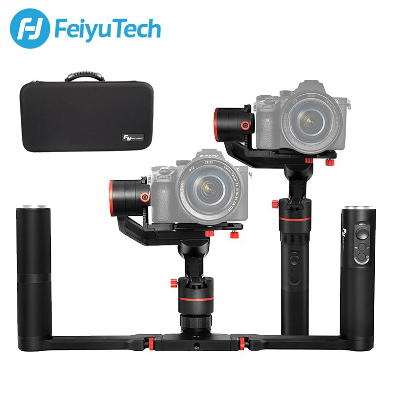 Feiyu A1000 3-Axis Gimbal DSLR Camera Stabilizer Dual Handheld Grip for a6500 a6300 iPhone Canon 5D/SONY Panasonic 1.7kg Payload