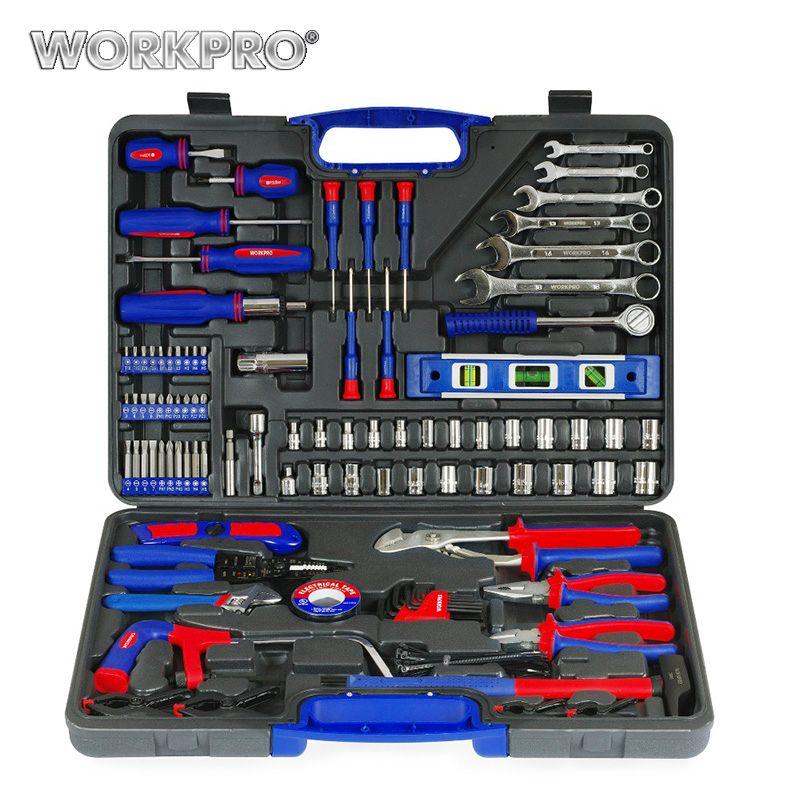 WORKPRO 139 PC accueil outils ménage outil ensemble tournevis ensemble pinces douilles clé à molette