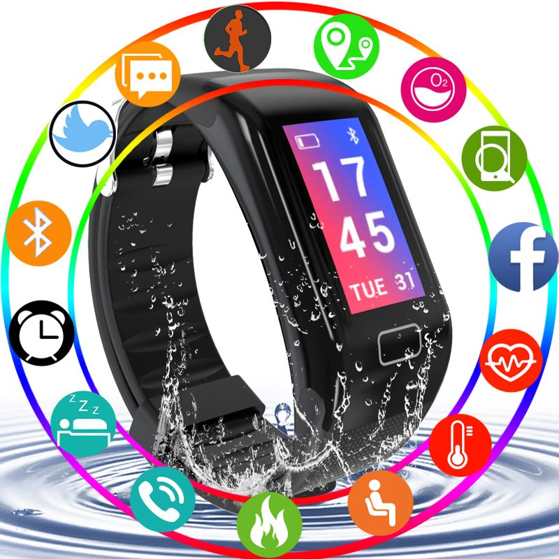 Pulsera inteligente Smart Wristband Color Screen Blood pressure Heart Rate Monitor pedometer Smart Bracelet Sport Watch Weather