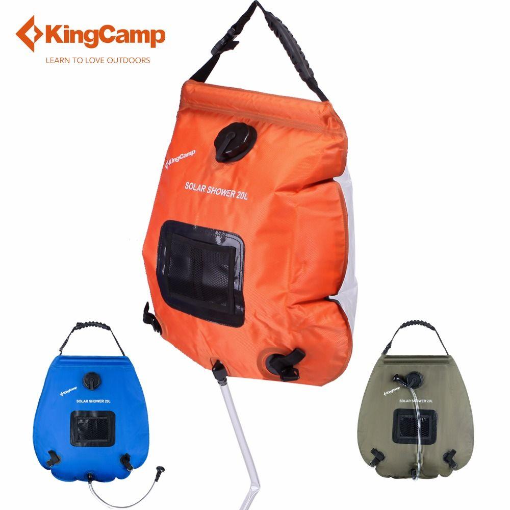 KingCamp Imprägniern Trockenen Beutel 20L Camping Solar-dusche Tasche Tragbaren Outdoor Wandern Solarenergie Beheizt Camp Dusche Taschen