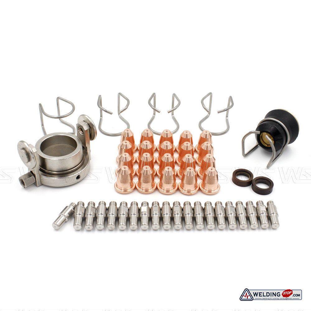 S45 plasmabrenner schneiden kits elektrode düse swirl ring schild distanz roller PR0110 PD0116-08 PC0116 CV0010 PE0106