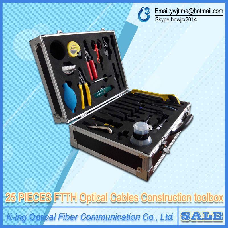 25 STÜCKE FTTH Optische Kabel Bau Toolbox FTTH bau kit Kabel kit Faser Toolbox