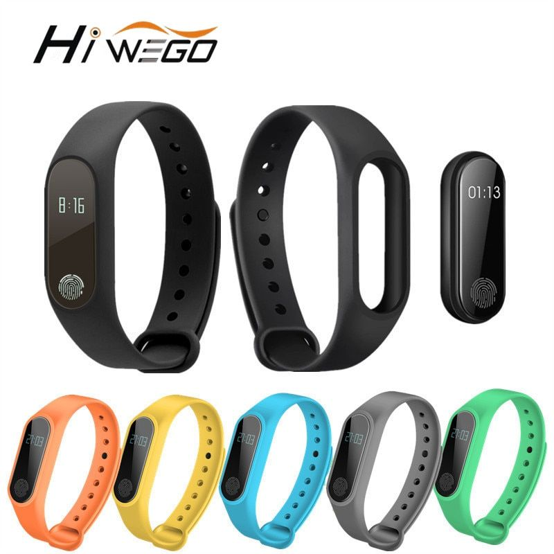 Hiwego Smart Wristband M2 Smart Bracelet Heart Rate Monitor <font><b>Pedometer</b></font> Waterproof Bluetooth For iOS Android For Men Women