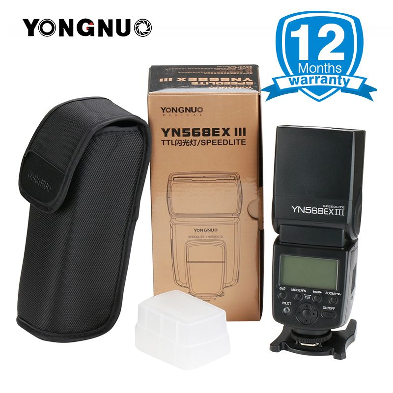 YONGNUO YN568EX III YN568EX II YN568ex High-speed TTL Flash Speedlite Master Slave Flash Light for Canon 80D Nikon D5300 D5100