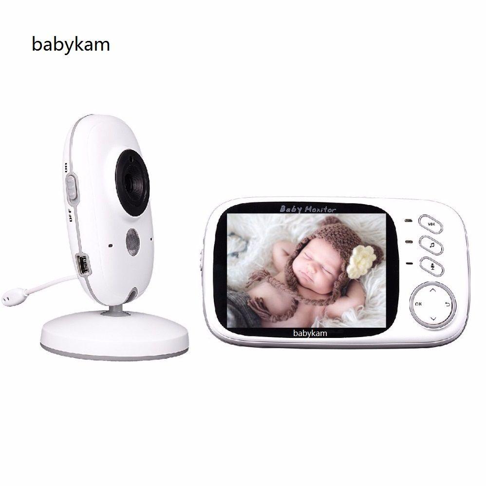 Babykam Video Baby Monitor baba electronics fetal doppler 3.2 inch LCD IR Night vision Temperature monitor Lullabies 2 way talk