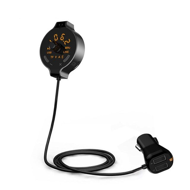 FM Transmitter Modulator Car Audio MP3 Player Bluetooth Handsfree Car Kit with Dual USB Car Charger Support TF Card / U Disk