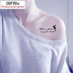 (Orden mínima $0.5) impermeable tatuaje Henna falso tatuaje pegatinas Taty Tatto Fairy personajes SYA055