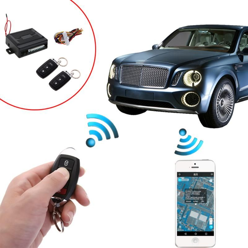 VODOOL Car Auto Remote Central Kit Door Lock Keyless Entry Alarm System for Universal Car with Remote Controller Car Styling