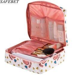 SAFEBET Marque Multifonction Organisateur Étanche Portable Maquillage Sac Homme Femmes Cosmétique Sac Voyage Nécessité Beauté Cas sac