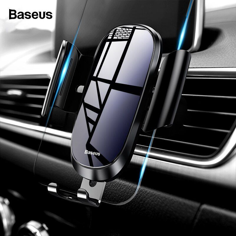 Baseus Car Phone Holder For iPhone X XS Max XR Samsung S9 S8 Gravity Air Vent Mount Holder For Phone in Car Mobile Holder Stand