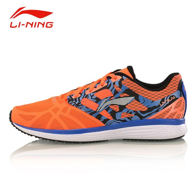Li Ning herren Outdoor Tragbare Laufschuhe Li Ning Geschwindigkeit Sterne Rutschfeste Atmungsaktiv PU + Stoff sport Turnschuhe ARHM021