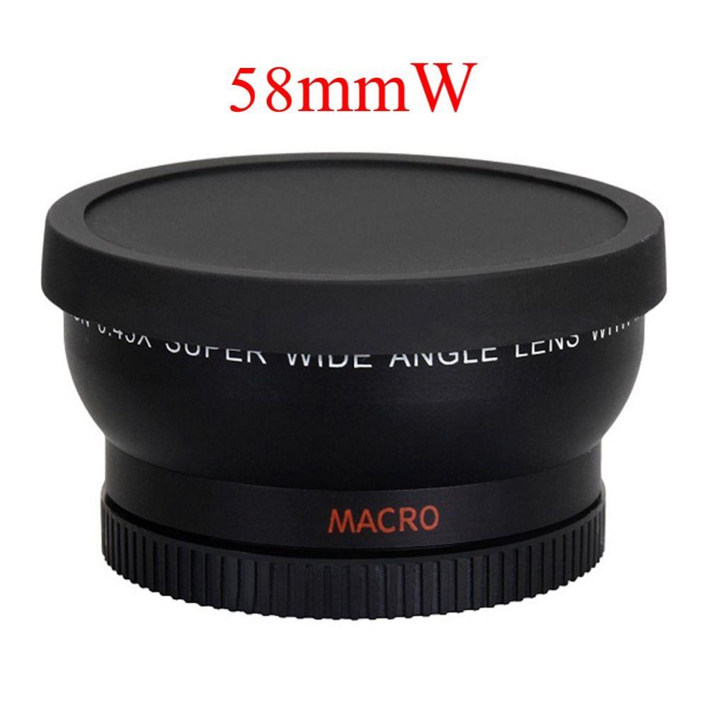 58mm 0.45X Objectif Grand Angle pour Canon EOS 1000D 1100D 500D Rebelles T1i T2i T3i L3EF Objectif 18-55MM