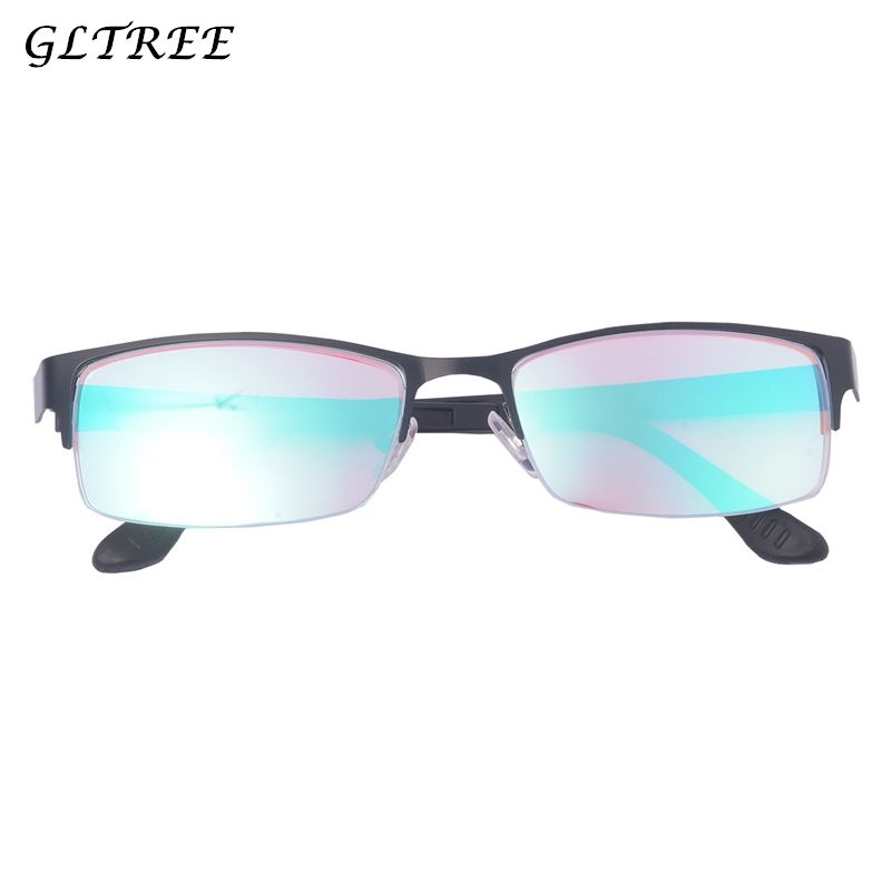 GLTREE Fashion Color-blindness Glasses 2018 Half Frame Red Green Color Blind Sunglasses Women Colorblind Driver Spectacles G400