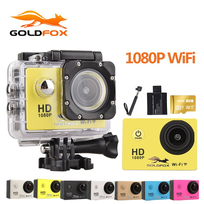 Goldfox Action Camera WiFi Camcorder HD 30M sport DV 2.0' Screen 1080p go waterproof pro camera Mini Camera Recorder Helemt Cam