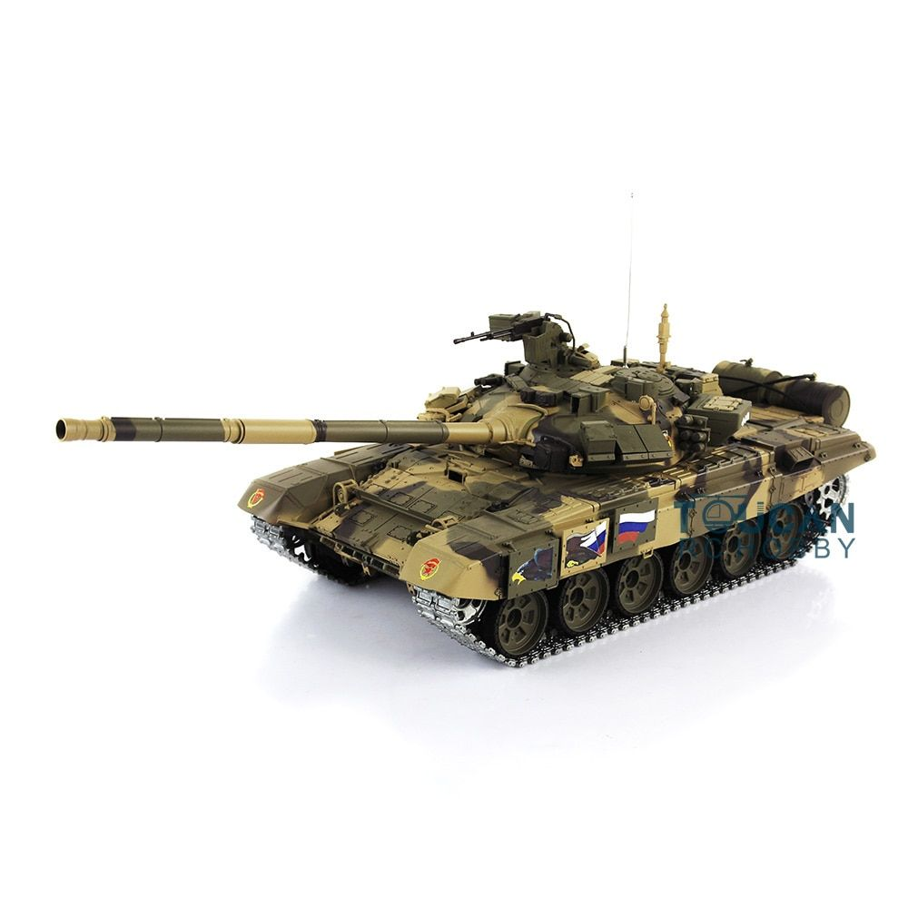 2.4Ghz Henglong 1/16 Scale Upgraded Metal Ver Russian T90 RTR RC Tank Model 3938