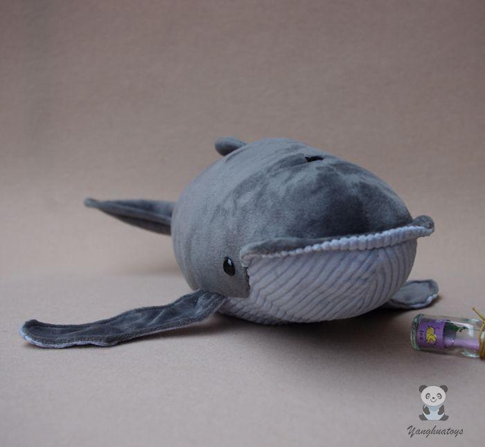 Peluche Super doux Baleen baleine poupée jouets pour enfants en peluche Simulation animaux marins poupée à bosse