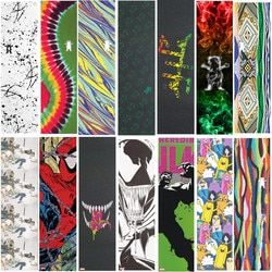 USA brand Grizzly Laest design  Pro Skateboard Griptapes Silicon Carbide Skate Grip Tapes with Air Holes Sandpaper