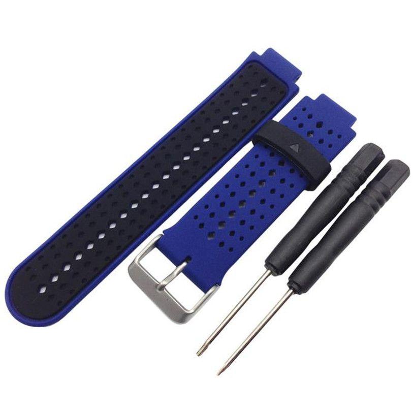 HL Weiche Silikon Ersatz Armbanduhr Band für Garmin Forerunner 220 230 235 630 620 August 30E22