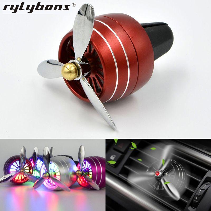 Auto Luft Reiniger Parfüm Auto Lufterfrischer Mini Fan Dame Auto Air Vent Clip Outlet Aromatherapie Auto-styling Auto zubehör