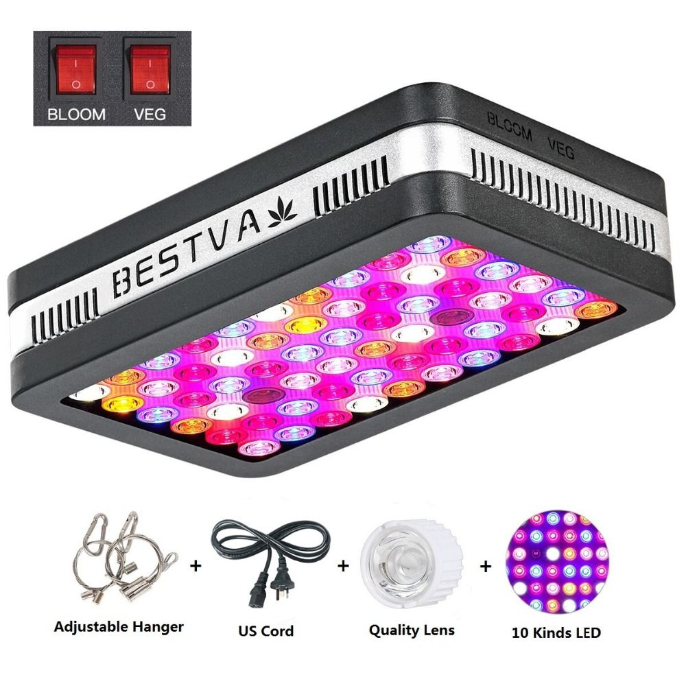 Led grow ligh reflector Elite 600W LED Grow Light Full Spectrum Grow Lamp for Greenhouse Hydroponic Indoor Plants Veg and Flower