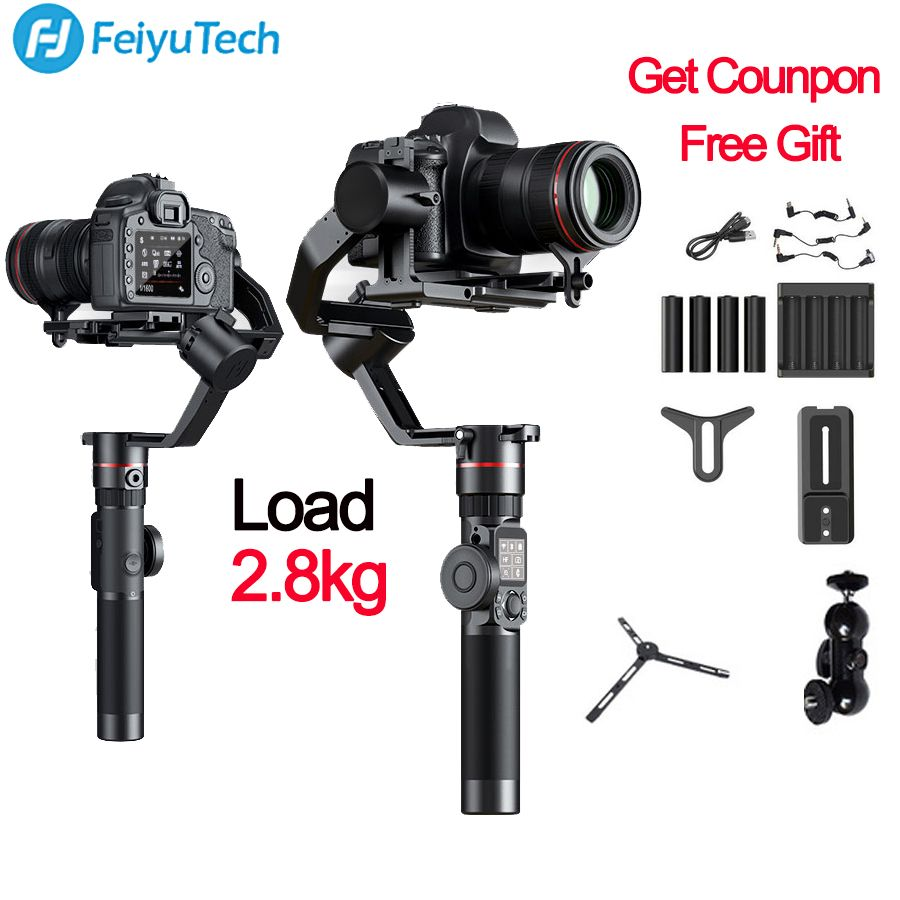 FeiyuTech Feiyu AK2000 3-Axis Camera Stabilizer Gimbal for Sony Canon 5D Mark 80D Panasonic GH5 Nikon D850 VS zhiyun crane 2