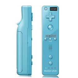 100% New 2 in1 Remote Motion Plus For Wii Remote Controller With Silicone Case and Wrist Strap For Nintendo for wii console