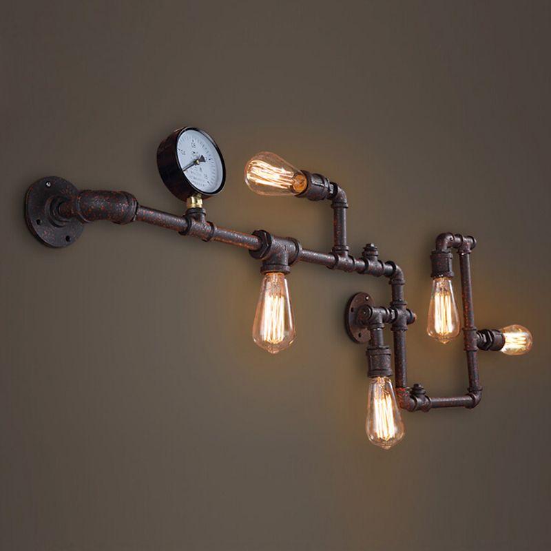 Steam punk Loft Industriellen eisen rost Wasser rohr retro wandleuchte wandleuchte lichter E27 AC 110 V 220 V LED für wohnzimmer schlafzimmer
