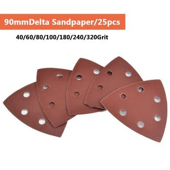 Triangle 6 Trou Auto-adhésif Papier de Verre 90mm Delta Ponceuse Sable Papier Crochet et Boucle Papier de Verre Disque Abrasif Outils pour le Polissage