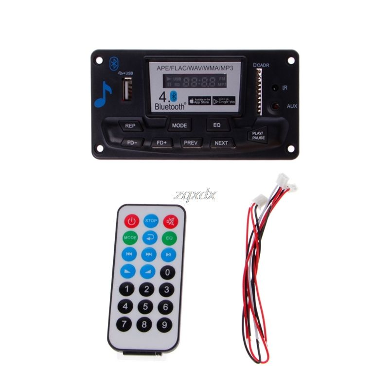 4,0 Bluetooth MP3 Decodierung Bord Modul LED 12 V DIY USB/SD/MMC APE FLAC WAV DAE Decoder rekord MP3 Player AUX FM Ordner Schalter