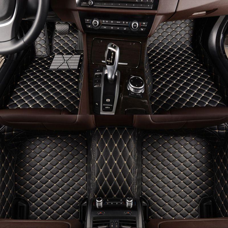 -Matte leder auto boden matten für LandRover LR2 LR3 LR4 Range Rover Freelander entdeckung evoque auto zubehör erweiterte matte