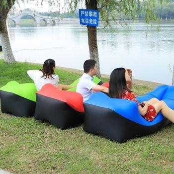 2019 neueste Design schlafsack faul tasche Aufblasbare Sofa Faul sofa Strand Bett Luft sofa Liege Tasche Luft Matratze