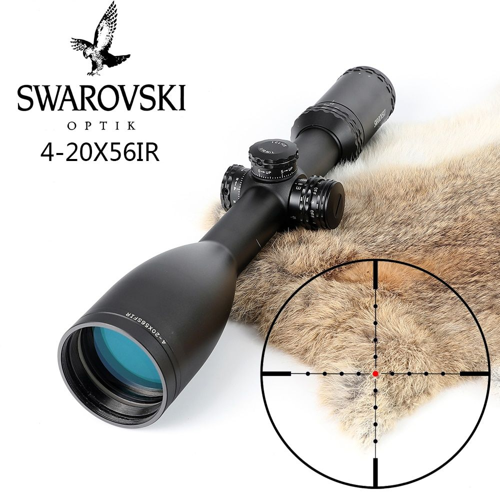 Imitation Swarovskl 4-20x56 SFIR RifleScopes Mil Dot Glass F40-1 Crosshairs Hunting Rifle Scopes Made In China
