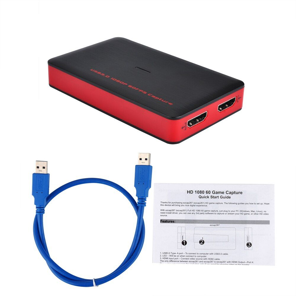 USB3.0 1080P 60fps HDMI Video Capture Card Recording USB 3.0 Live Broadcast Streaming for PS3 PS4 Camcorder Meeting Game TV box