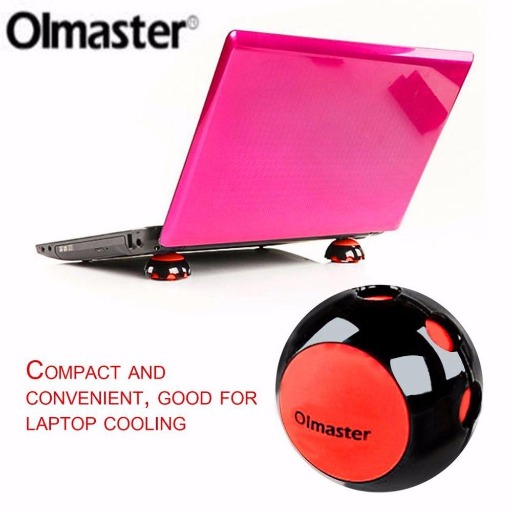 Olmaster Mini Portable Kompakte rutschfeste Silicon Kühlung Kühler Stehen Ball Neuheit für Alle Größe Laptop Notebook Macbook